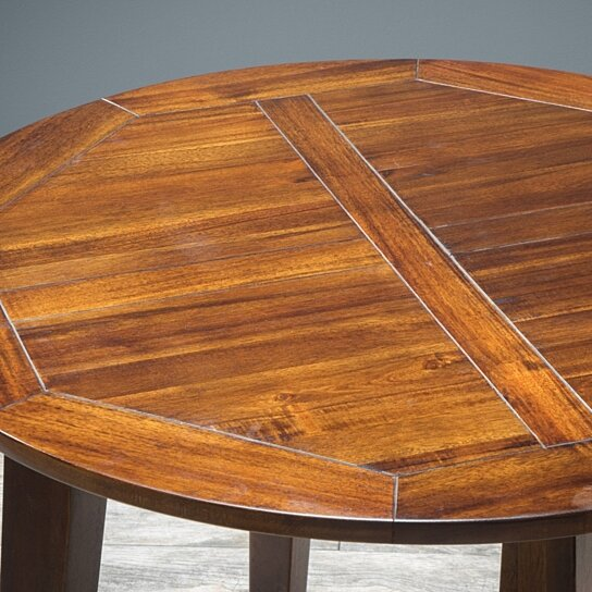 Dining Room Furniture 5pc Mahogany Stained Wood Round: Buy Potter 5pc Mahogany Stained Wood Round Table Dining
