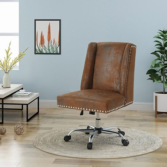 Buy Quentin Home Office Microfiber Desk Chair By Gdfstudio On Dot Bo