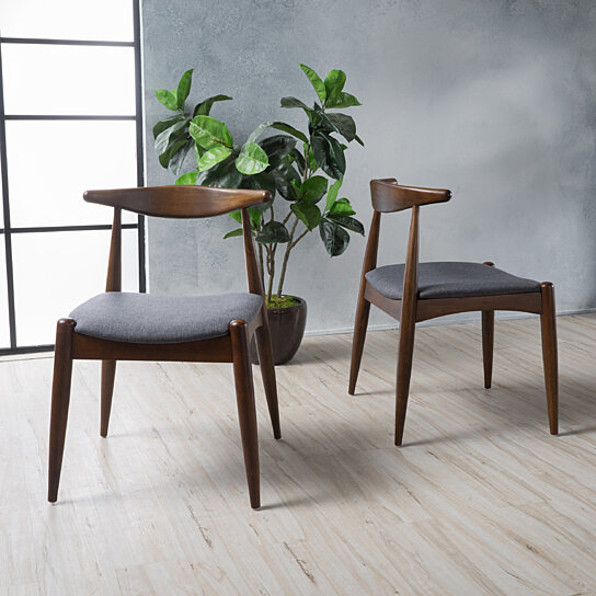 Buy Sandra Mid Century Modern Dining Chairs (Set of 2) by GDFStudio on Dot u0026 Bo & Buy Sandra Mid Century Modern Dining Chairs (Set of 2) by GDFStudio ...