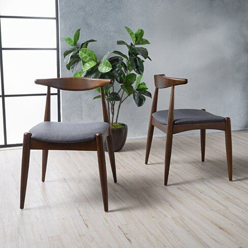 Sandra Mid-Century Modern Dining Chairs (Set of 2)