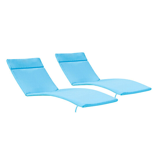 Outdoor Natural Gas Fire Pit Table, Buy Set Of 2 Blue Cushion Pads For Outdoor Chaise Lounge Chairs By Gdfstudio On Dot Bo