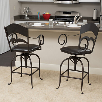 black iron furniture. Hale Black Iron Swivel Barstool (Set Of 2) Furniture