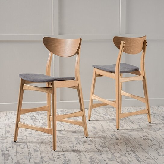 Groovy Molle Mid Century Design 24 Inch Counter Stools Set Of 2 Cjindustries Chair Design For Home Cjindustriesco