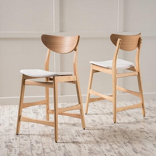 Buy Molle Mid Century Design 24 Inch Counter Stools Set
