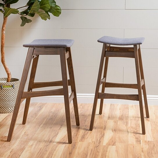 Buy Oster Mid Century Design 30 Inch Bar Stools Set Of 2 By