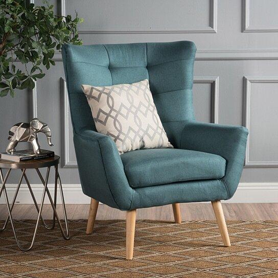 Buy Temescal Mid Century Modern Dark Teal Fabric Club Chair By GDFStudio On  Dot U0026 Bo