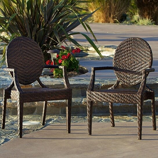 Buy Townsgate PE Wicker Outdoor Chair (Set of 2) by GDFStudio on Dot & Bo - Buy Townsgate PE Wicker Outdoor Chair (Set Of 2) By GDFStudio On Dot
