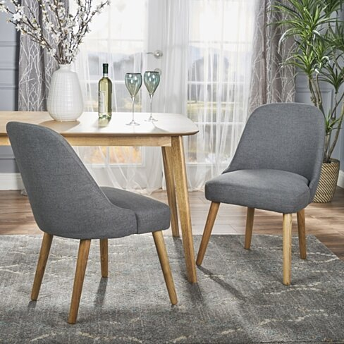 Trimay Mid Century Fabric Dining Chair Set Of 2