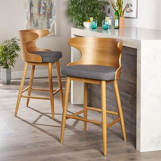 Truda Mid Century Modern Upholstered