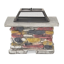 Tundra Square Natural Stone Finish Fire Pit