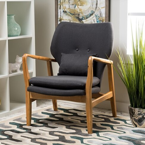 Ventura Mid Century Modern Fabric Club Chair