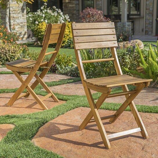 Buy Vicaro Outdoor Natural Finish Acacia Wood Foldable