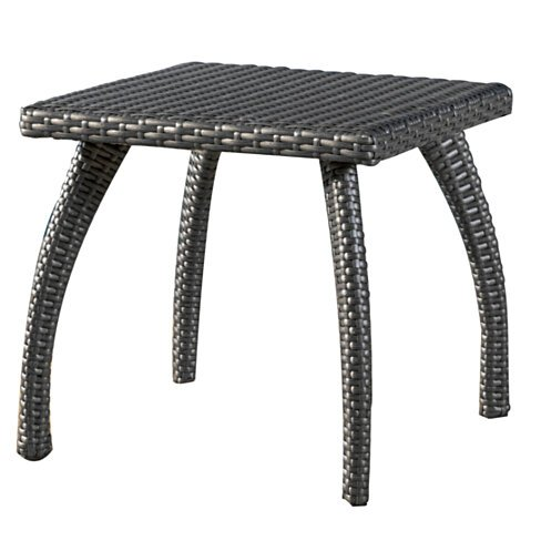Buy woodridge outdoor grey wicker accent table by great for Great deals on outdoor furniture
