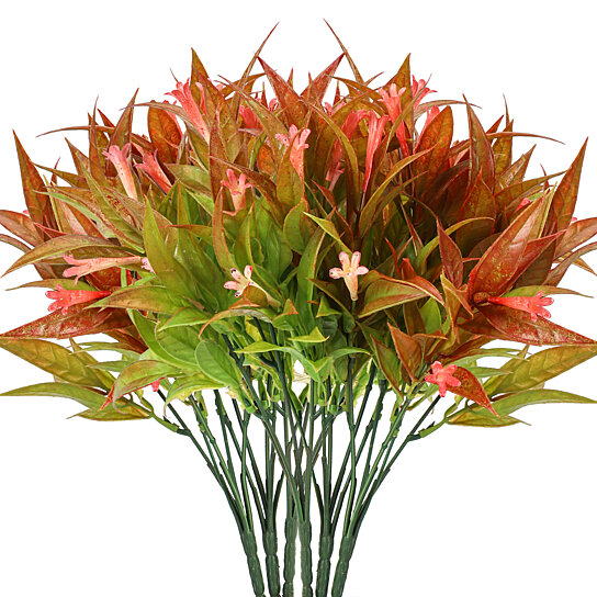 Buy Artificial Plants In Pots For Home Decor Indoor 8 Stems Faux Fall Flower Outdoors Decoration Outdoor Fake Floral Mums Arrangements Plant By Great Deals Available On Dot Bo