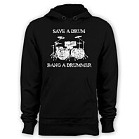 Save a drum bang a drummer hoodie funny percussion hoody band apparel
