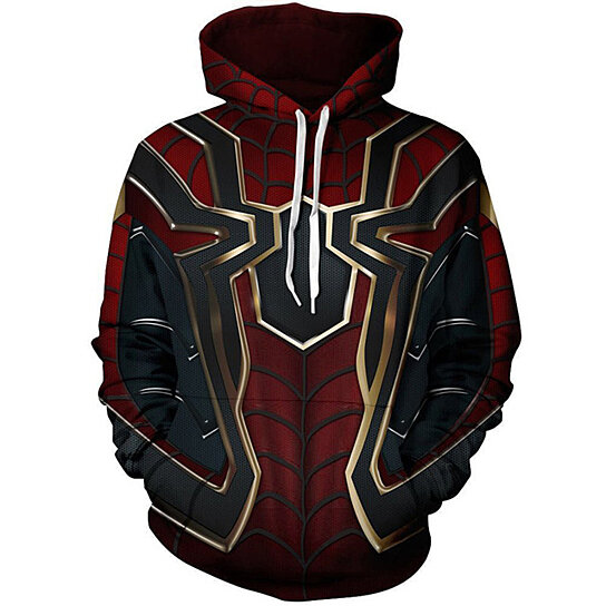 a73e9c3b7685 Buy 3D Anime Hoodies Men Iron Spiderman Cosplay 3D Full Print Streetwear Hoody  Sweatshirts Tops Spring Autumn Pullovers by Guoguo on OpenSky