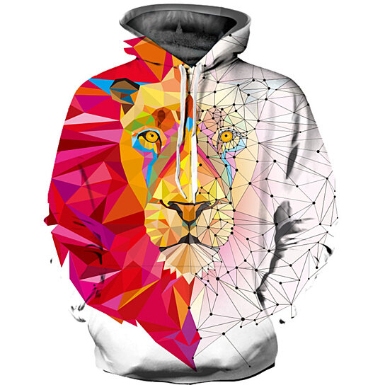 6215c4e26a8d Buy 3D Colorful Lion Hoodies Men Women Hooded Sweatshirts Autumn Novelty  Pullover Male Tracksuits Fashion Printed Casual Outwear by Guoguo on OpenSky