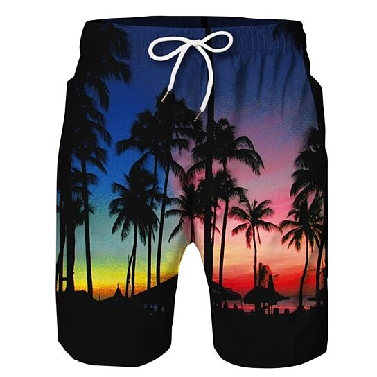 10958148ae to cart 61 times in the last 24 hours. Casual Mens Swim Trunks Quick Dry  Printed Beach Shorts Summer Boardshorts