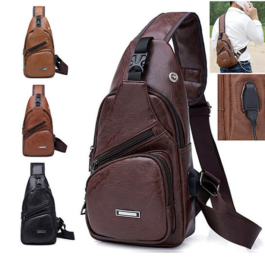 Trending product! This item has been added to cart 33 times in the last 24  hours. Sling Bag Men Shoulder Chest Backpacks Fashion Crossbody ... a53f25950559f