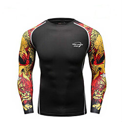 5f3eda2a Mens Fitness Compression T Shirt Long Sleeve Soft Slim Baselayer Cool Dry  Compression Sport Gym Top