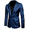 Mens Suit Floral Party Dress Suit Stylish Dinner Tuxedo Wedding Dress Blazer Single Breasted Party Suit Jacket 1 Button Jacket
