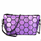 Women Shoulder Handbag PU Leather Geometric Metal Chain Handbag Casual Crossbody Messenger Bag Purse