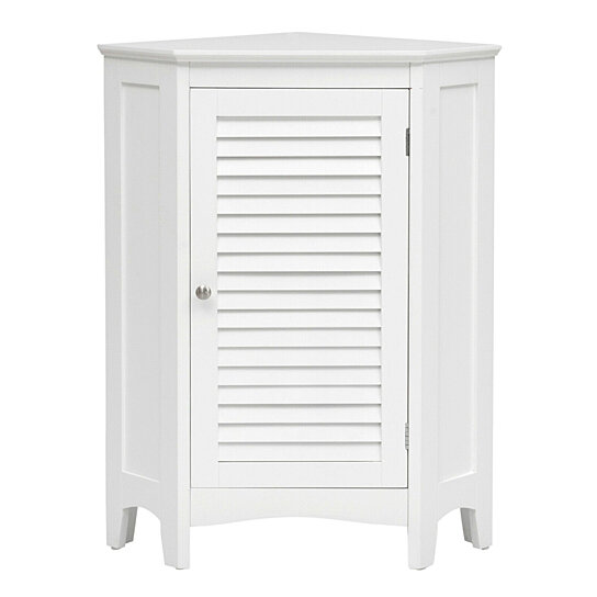 Buy Gymax Corner Storage Cabinet Free Standing Bathroom Cabinet W Shutter Door By Gymax On Dot Bo