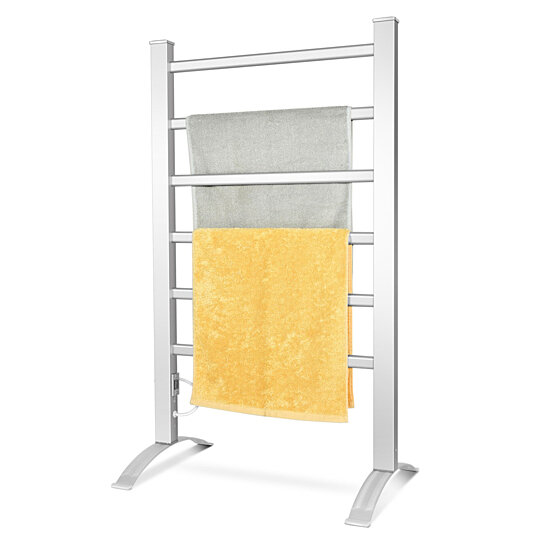 Buy Gymax Freestanding Wall Mounted Electric Towel Rail Rack Bathroom Warmer Heated By Gymax On Dot Bo