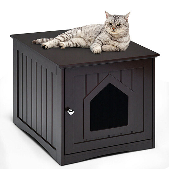 Buy Gymax Weatherproof Multi Function Pet Cat House Indoor Outdoor Sidetable Nightstand By Gymax On Dot Bo