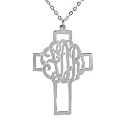Monogram  Silhouette Cross Pendant