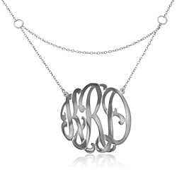 Personalized Hand Cut Gated Monogram Necklace