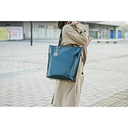 MKF Collection Abeille Patent Tote Bag by Mia K. Farrow