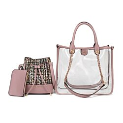 MKF Collection Diva PVC Tote, Cross body and Coin Purse Set by Mia K Farrow