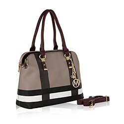MKF Collection Justina Plaid Satchel Bag by Mia Farrow