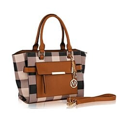 MKF Collection Noel Plaid Satchel Bag by Mia K. Farrow