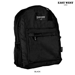 East West U.S.A Simple School/Work Backpack with Front and Side Pockets B101S