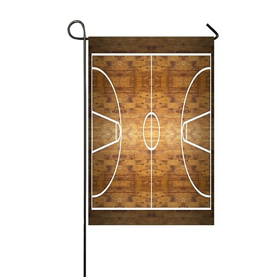 Buy Aerial Top View Hardwood Basketball Court Garden Flag Outdoor Flag Home Party Garden Decor By Harriet Queena Queena On Dot Bo