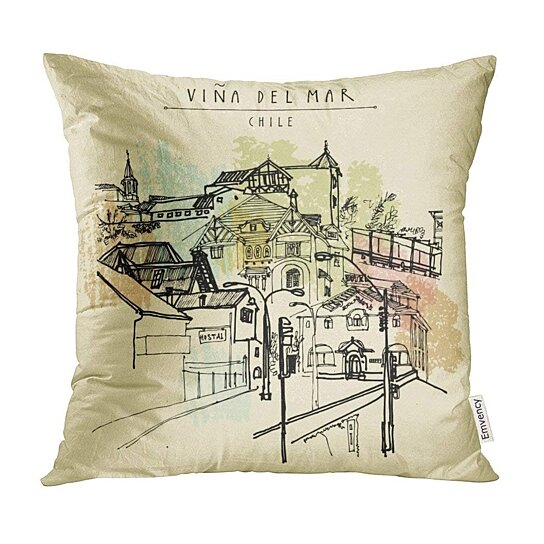 Buy Amazing Victorian Architecture In Vina Del Mar Chile South America Vintage American Pillow Case Pillow Cover 18x18 Inch By Harriet Queena Queena On Dot Bo