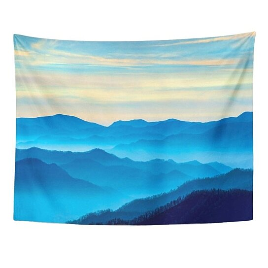 Buy Blue Fog View The Smoky Mountains From Route 441in Newfound Gap In Tennessee Foggy Wall Art Hanging Tapestry 60x80 Inch By Harriet Queena Queena On Dot Bo