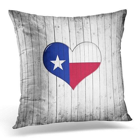 Buy Blue Houston Texas Flag Heart Wood Red Love Pillowcase Cushion Cover 20x20 Inch By Harriet Queena Queena On Dot Bo