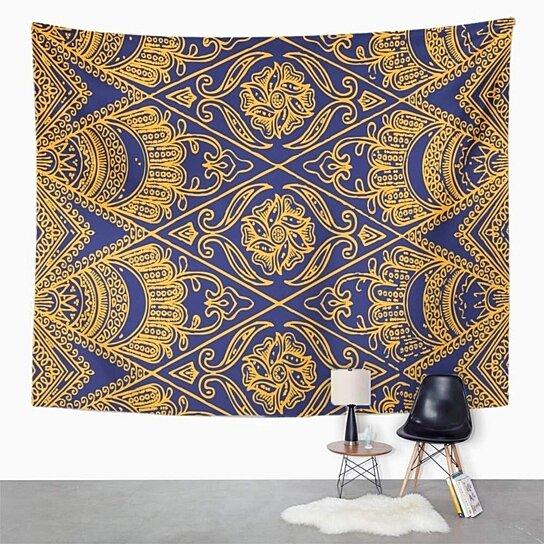 Buy Blue Indonesia Javanese Batik Pattern Colorful