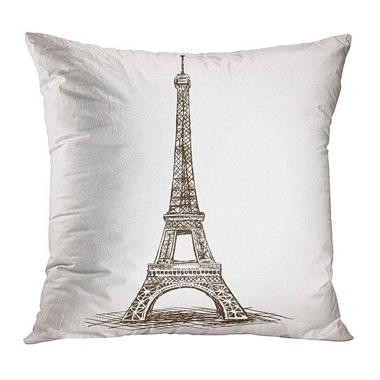 Paris in Brown Pillow Cover
