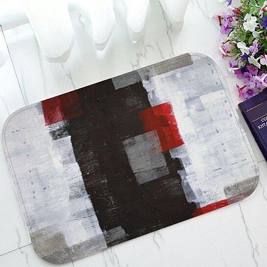 Admirable Buy Red And Grey Abstract Art Painting Welcome Doormat Door Handles Collection Dhjemzonderlifede