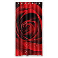 Buy Red Rose With Raindrop Flower Floral Pattern Waterproof Shower Curtain Bathroom Decor Sets With Hooks 36x72 Inches By Harriet Queena Queena On Dot Bo