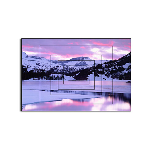 "A Mountain Sunset by Christopher Talbot Frank, 15"" x 10"" Five-Panel Print on Wood"