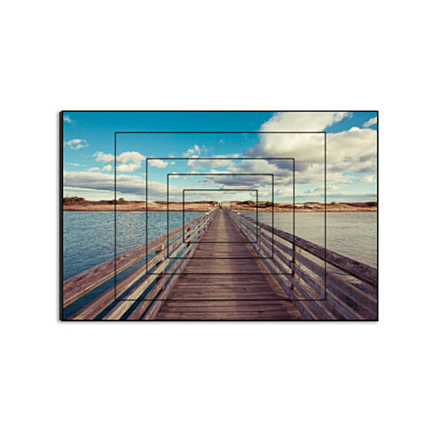 "Bridge to the Beach by Katherine Gendreau, 15"" x 10"" Five-Panel Artwork Print on Wood"