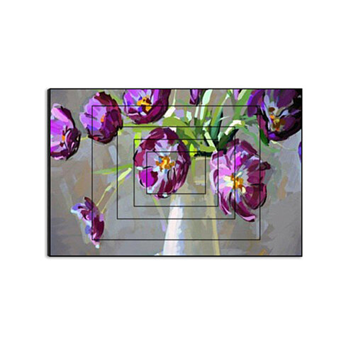"Painterly Purple by Annabel, 15"" x 10"" Five-Panel Artwork Print on Wood"