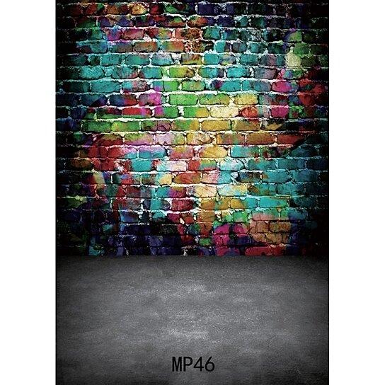 Buy 5x7ft Multicolor Paint Brick Backdrop Graffiti Hand
