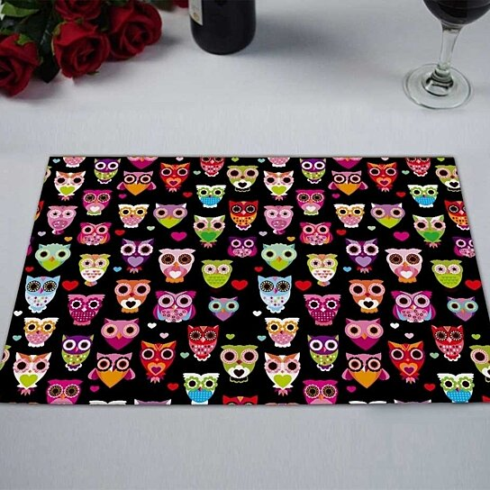Buy Cute Colourfull Owl Kitchen Dining Table Mats ...