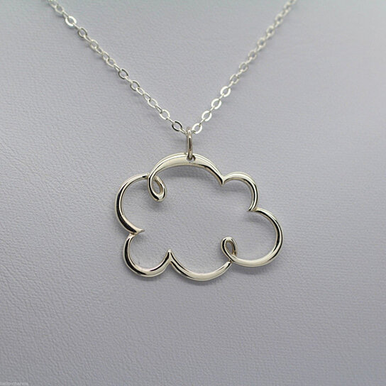buy cloud charm necklace 925 sterling silver weather